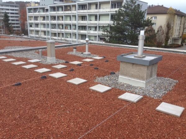 Impressionen Flachdach-Abdichtungen Maillard Bedachungen Winterthur