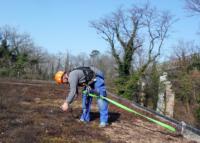 Ein sicheres Arbeiten gewährleistet durch den Einzelanschlagpunkt plus einem überfahrbarem System.